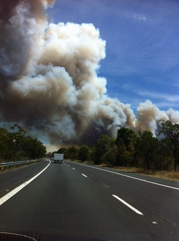The Hume and Pacific Highways were closed.   50 Surreal Images From Sydney's Bushfire Crisis