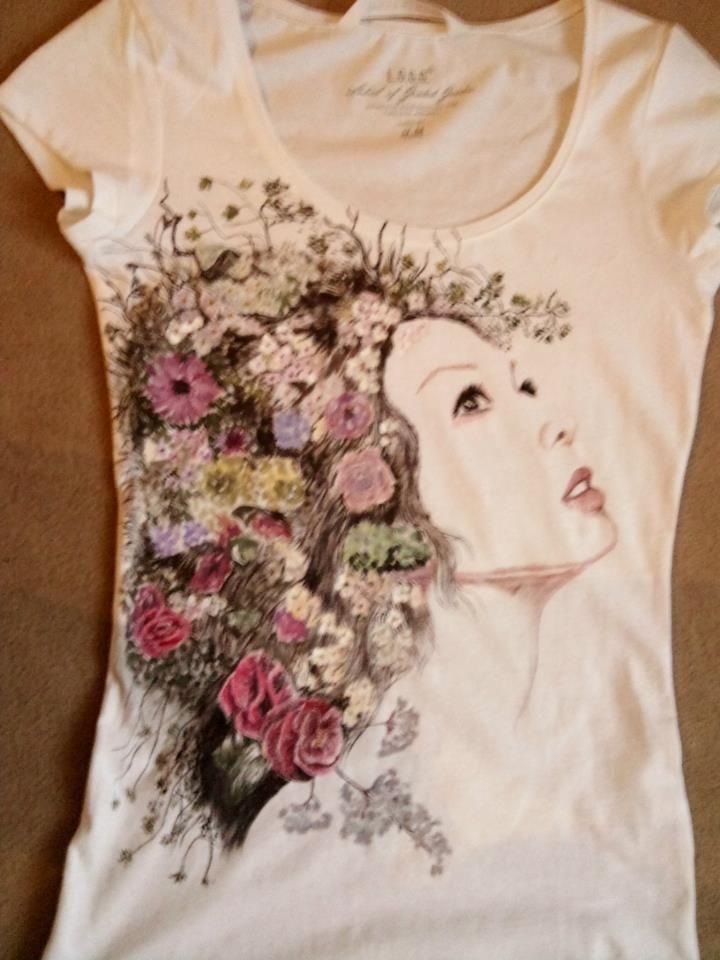 puchuskubatek: Koszulki ręcznie malowane