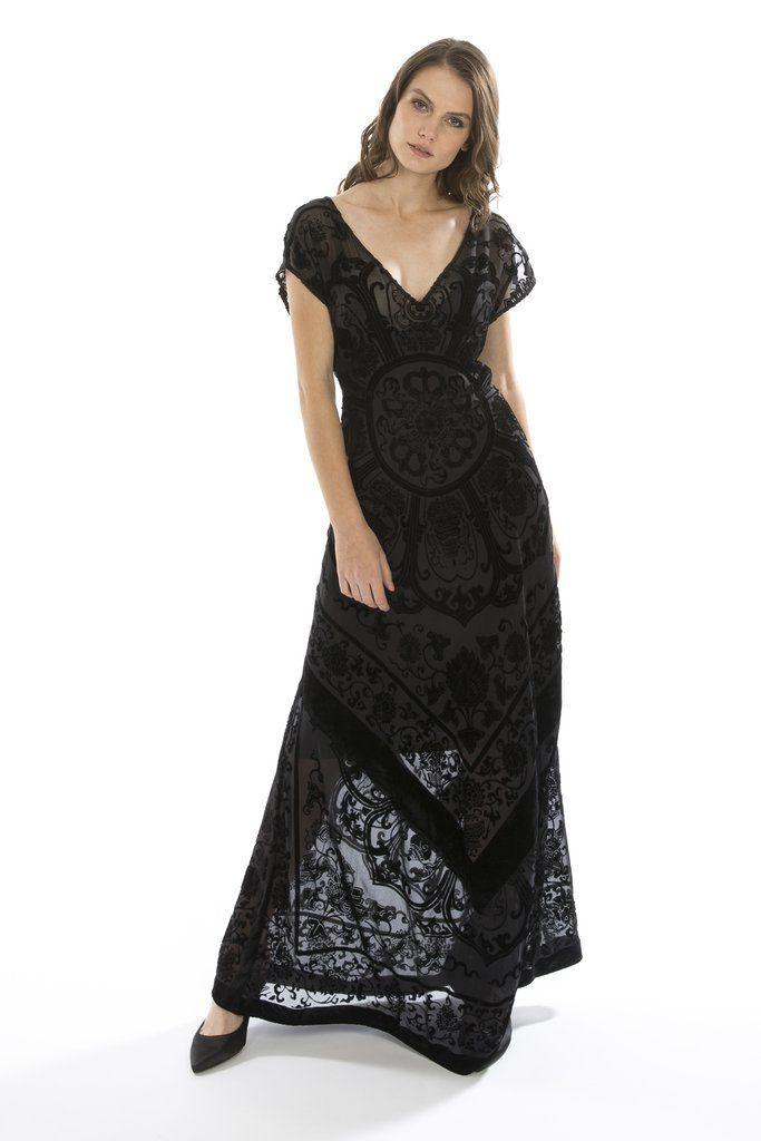 Silk Devore Dress - Jayley Collection
