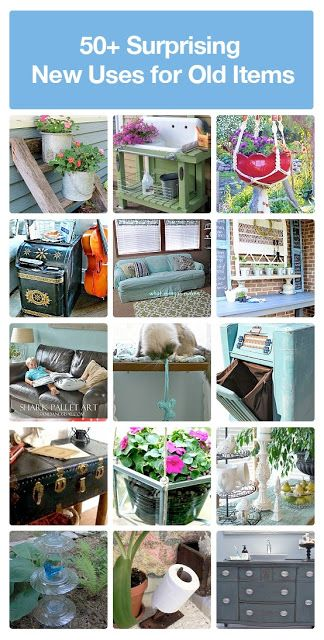 50+ DIY Surprising New Uses For Old Items