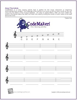 Breathtaking image intended for printable music theory worksheets
