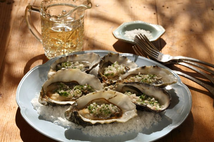 Oysters with Eschallots and Verjuice - Maggie Beer