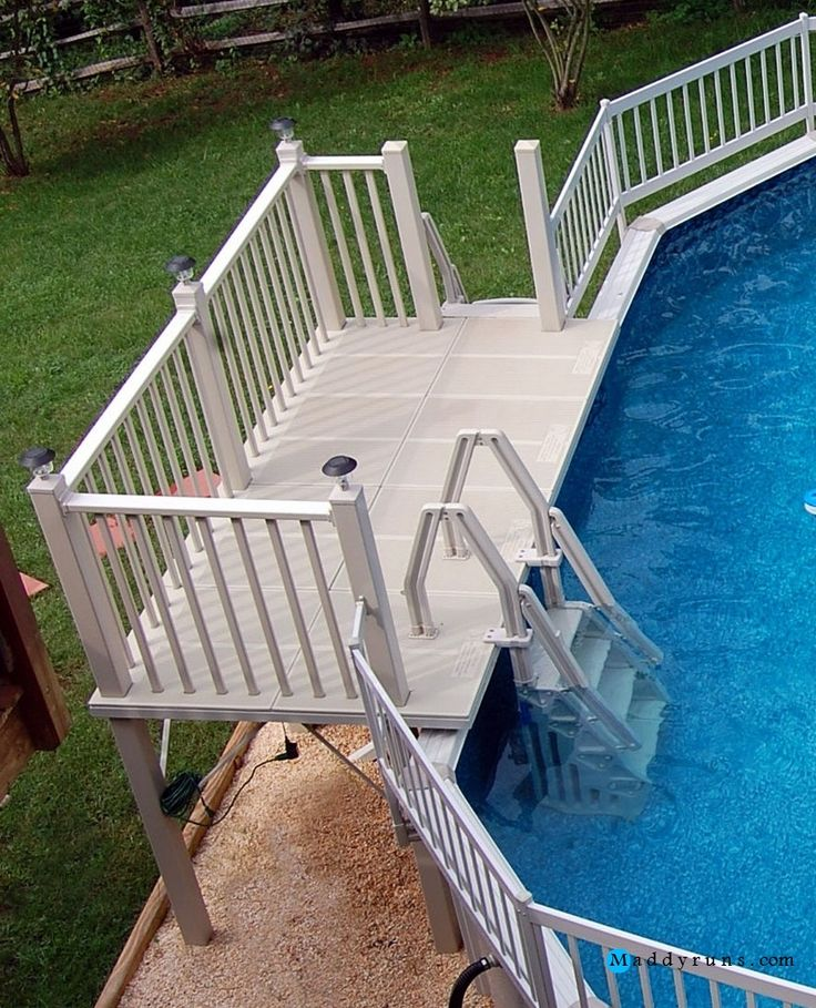 25 best ideas about pool ladder on pinterest pool steps intex pool ladder and pool ideas - Above ground pool steps for handicap ...