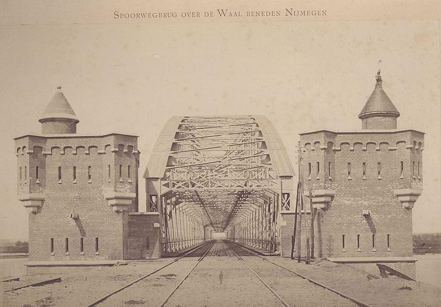 Spoorwegbrug over de Waal by Regionaal Archief Nijmegen, via Flickr
