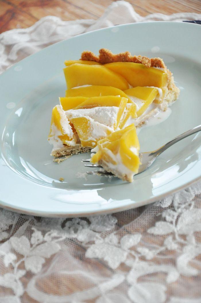 Rezept: Vegane Mango Tarte, glutenfreiMy Mirror World