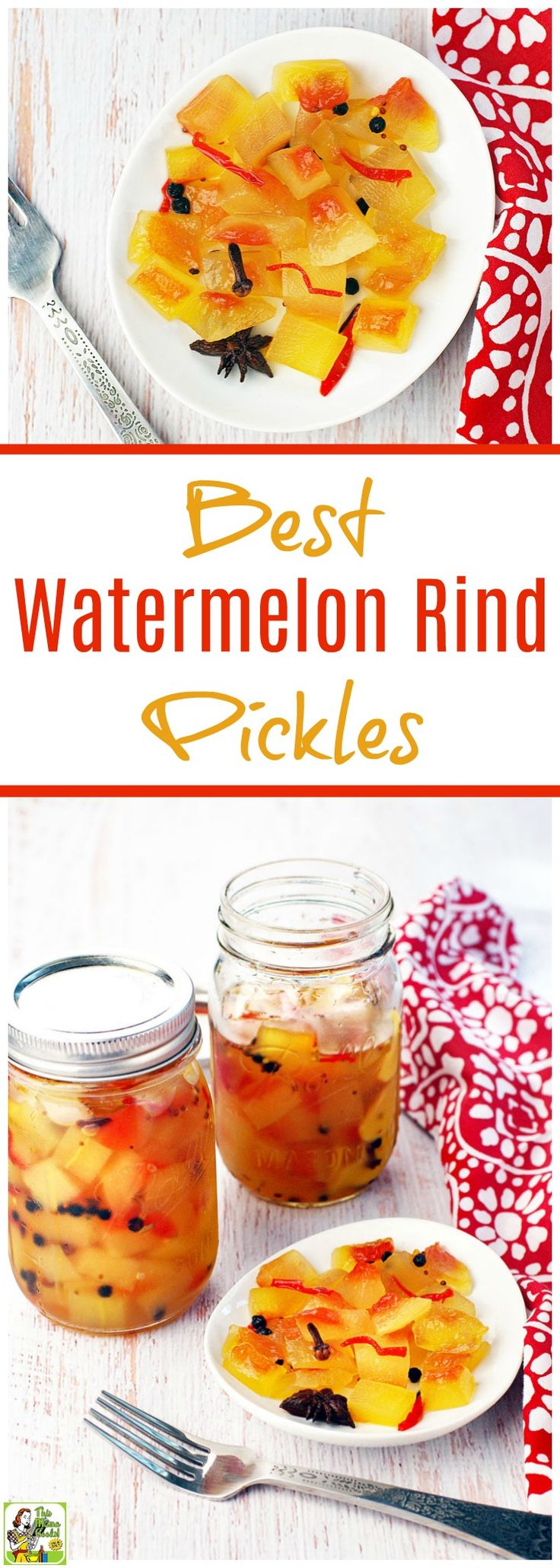 Wondering what to do with leftover watermelon rinds? Make this Best Watermelon Rind Pickles recipe! Click to get this easy spicy watermelon pickles recipe. This watermelon pickling recipe is easy to make. No special equipment needed.