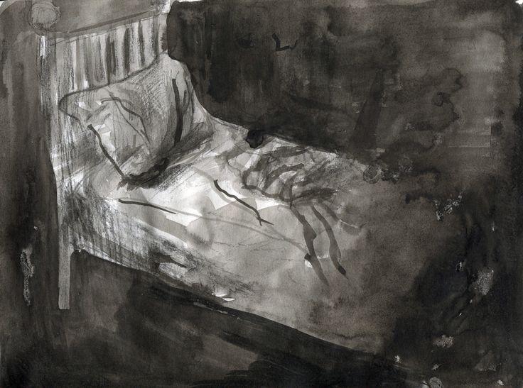 Illustration to Kafka´s Ortel by Julie Čermáková