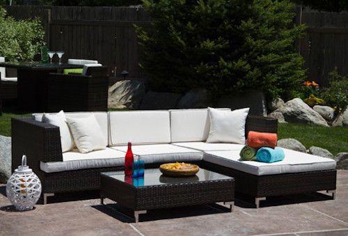 Outdoor Patio Furniture Seating Set Beach Modern Designer pool chair sofas table  make offer ebay