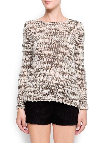 Open knit bicolor jumper
