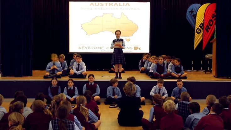 'AUSTRALIA' is an information-laden, curriculum-aligned song for MIDDLE/UPPER PRIMARY. It highlights such things as states, capital cities, seas, islands, rivers, significant places, sites & environments, Aboriginal place names, etc. *DETAILS & DOWNLOADABLE song package: http://www.teachinabox.com.au/iteminfo.aspx?itemid=436#productInfo *©LYRICS: Nuala O'Hanlon, B.Ed; Cert Teaching/MUSIC: Kathryn Radloff, B.A. (Hons) Psych: KEYSTONE CREATIONS ~ Educational Songs…
