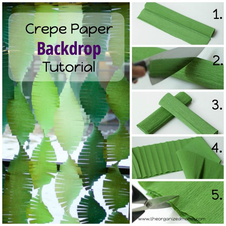 How to create a crepe paper backdrop for parties!