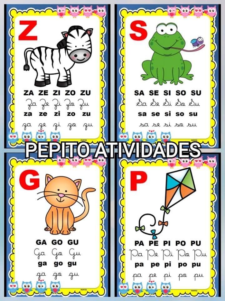 Pepito Atividades Escolares Silabario Para Alfabetizacao No Tema Corujinhas Para Imprimir Atividades De Alfabetizacao Silabario Silabario Para Imprimir