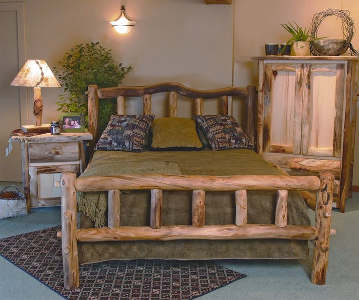 Best 25+ Log Bed Frame Ideas On Pinterest