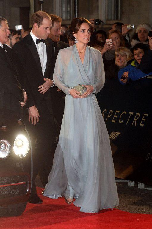"""Kate et William arrivent à l'avant première de """"Spectre"""""""