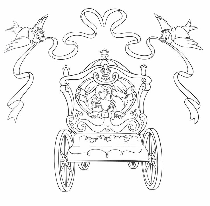cinderella coloring picture see more cinderella prince carriage ribbon