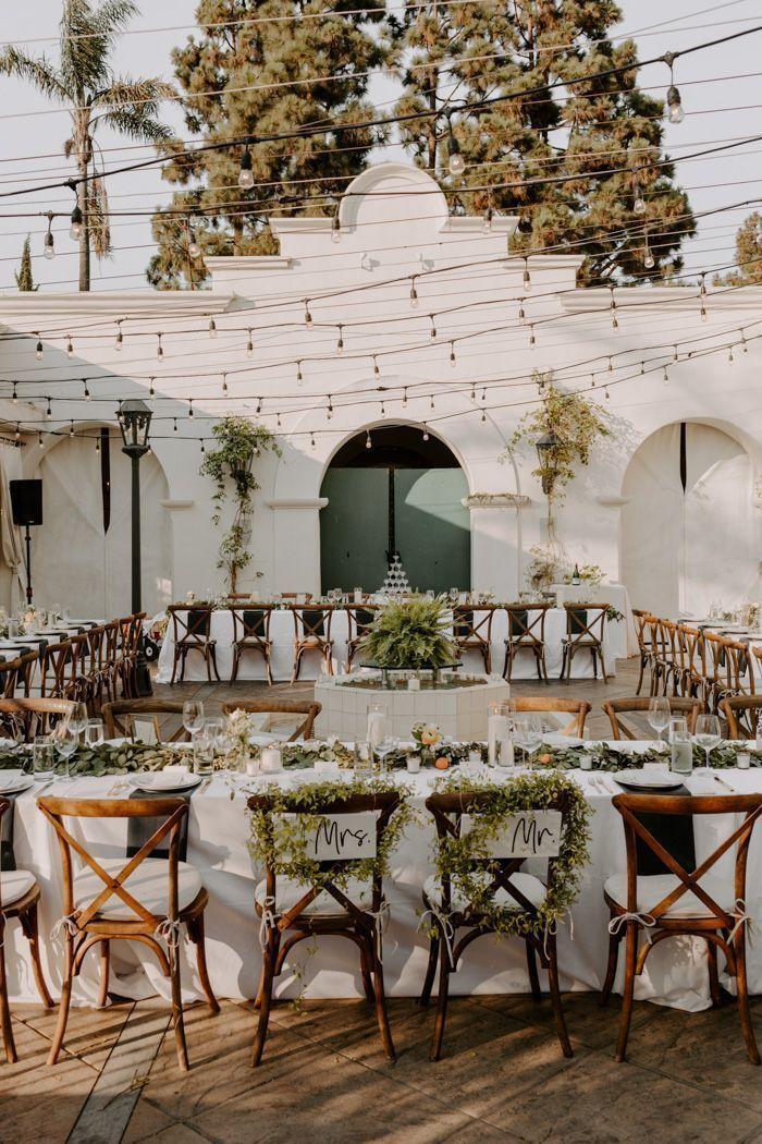 Diese raffinierte Schwarz-Weiß-Hochzeit in Villa & Vine …   – Decoration