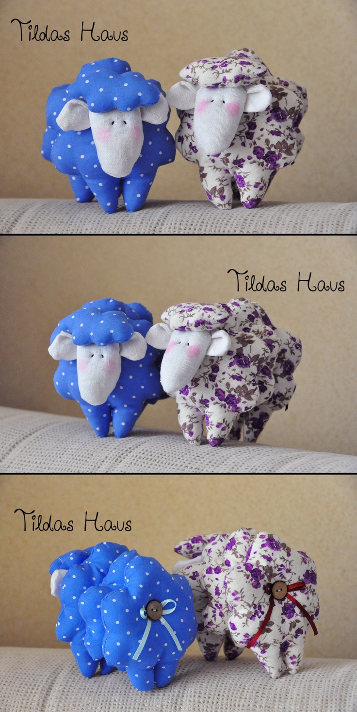 My Tilda Sheep. Images only. Pattern in Tilda's Haus: Fabulous Fabric Ideas in the Scandinavian Style by Tony Finnanger -book is in German and is for sale on Amazon.