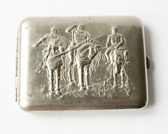 Vintage cigarette case from Soviet union