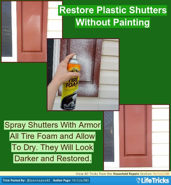 Household Repairs - Restore Faded Plastic Shutters Without Painting