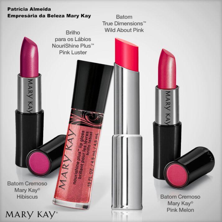 Batons Mary Kay. Mais cor e hidratação para seus lábios!