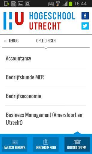 """De """"FEM Welkom App"""" is ontwikkeld voor aankomende studenten van de FEM aan de Hogeschool te Utrecht. In deze app kunnen de studenten belangrijke informatie vinden over hoe in te schrijven, toekomstige vakken, belangrijke mededelingen, roosters, benodigde documenten en meer."""