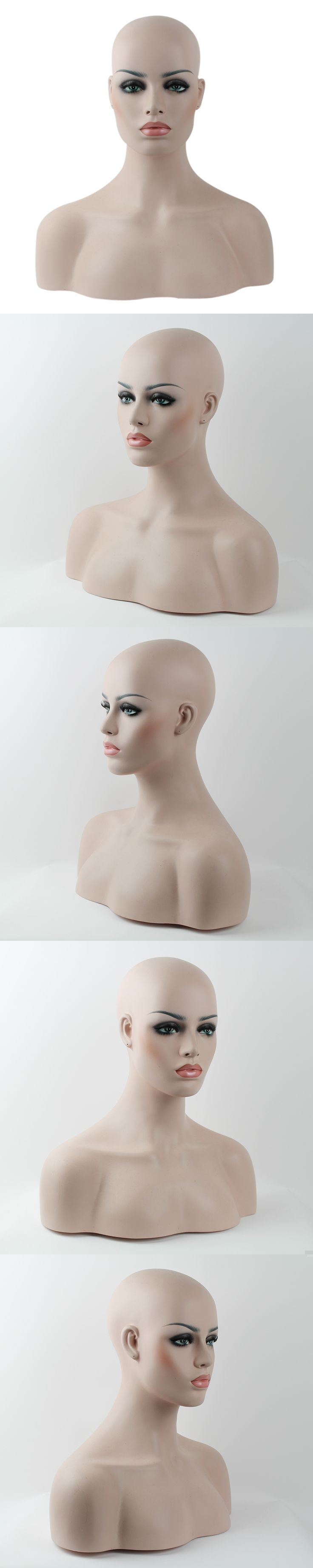 Fiberglass Mannequin Head Bust Necklace Jewelry Display Stand
