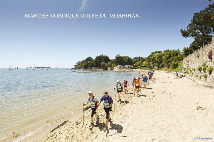 Marche Nordique chronométrée de 28km sur les bords du Golfe du Morbihan - Edition 2015