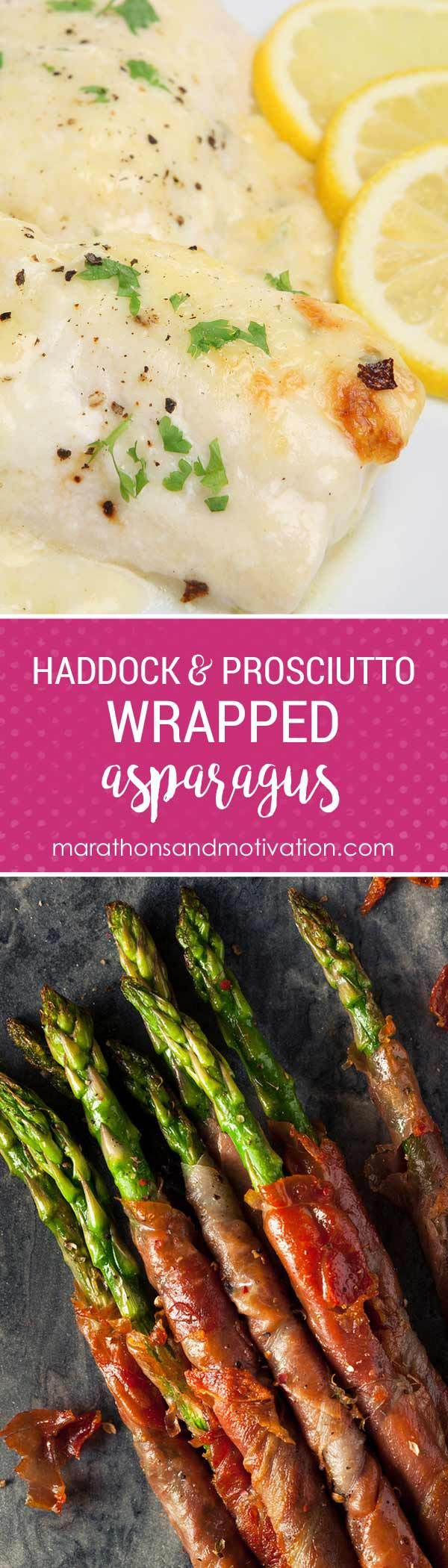 Baked Haddock with Prosciutto Wrapped Asparagus   Healthy Family Meal   Haddock   Asparagus   Prosciutto   Weeknight Dinner   Kid Friendly Meal