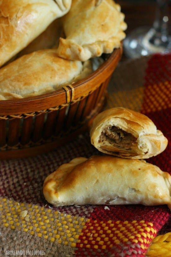 SABOREANDO EN COLORES: Empanadas argentinas (con hojaldre casero fácil)