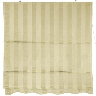 "Oriental Furniture 60"" Striped Roman Retractable Blinds in Soft Cream - WT-YJ1-1E-60W"
