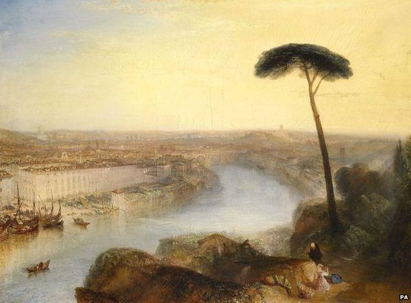 Rome, From Mount Aventine RomeFromMountAventine.jpg William Turner, ROMA VISTA DALL'AVENTINO, 1835, Colore ad olio, 92 cm × 125 cm, Sotheby's, Londra