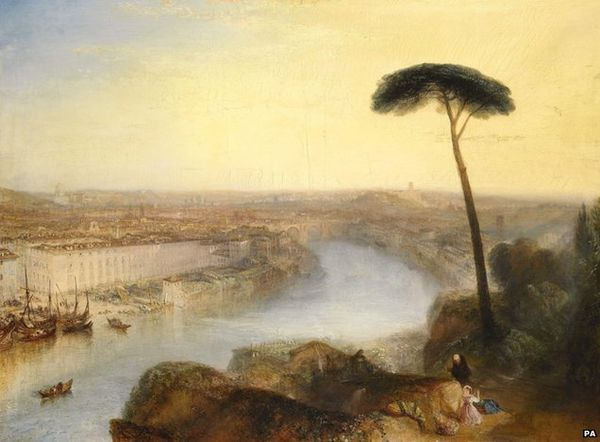 Rome, From Mount Aventine RomeFromMountAventine.jpg William Turner, ROMA VISTA DALL'AVENTINO, 1835, Colore ad olio, 92 cm × 125 cm, Sotheby's, Londra