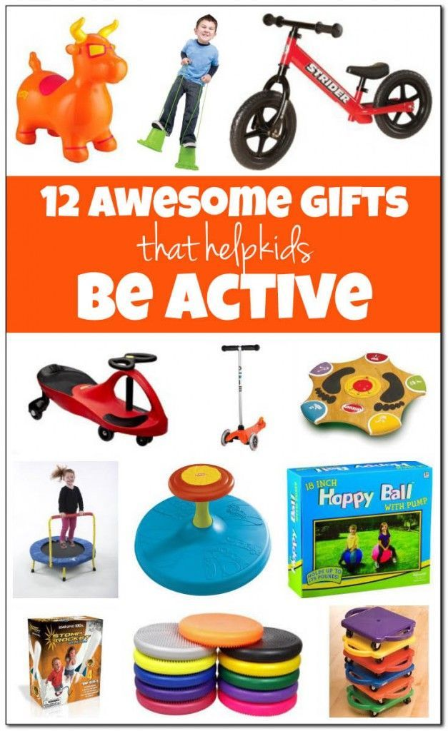 Best gifts for active kids: 12 awesome gift ideas for kids who like to move and be active. Includes active play gifts that can be used both indoors and outdoors. || Gift of Curiosity
