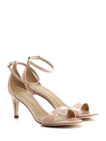 Cecconello - Sandalo alto - Donna - Sandalo alto in vernice con cinturino alla caviglia. Tacco 70. - CIPRIA - € 145.00