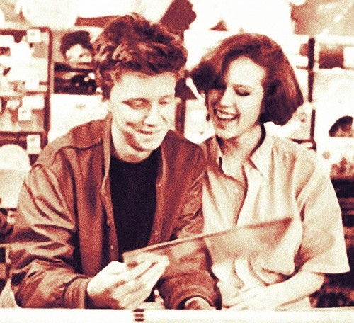 Anthony Michael Hall & Molly Ringwald rehearsing for The ...