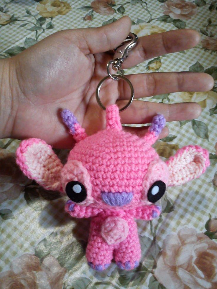 Little Lucas Free Amigurumi Pattern : Angel Stitch Keychain - Free Amigurumi Pattern here: http ...