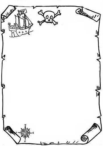 Carte au trésor vierge