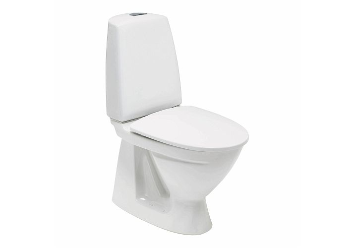 6044103 Ifø 68600000100010 Ifø Signfix 6860 Gulvstående toalett S-lås, For liming, Ifø clean, Hvit
