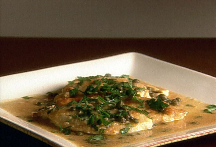 Chicken Piccata. SOOO delicious & takes no time at all to cook too :) Tastes good on top of brown/white rice! You can use spaghetti noodles too. xo, Jen