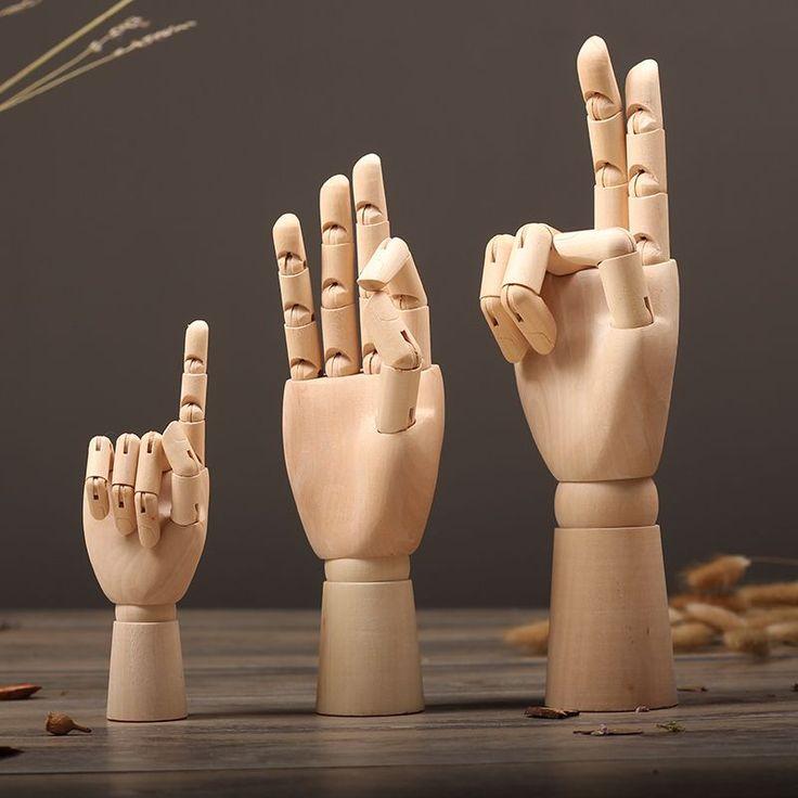 1 PC забавные деревянные ручная роспись эскиз модели людей развития интеллекта детей игрушки моделирования формы домашнего декора орнамент купить на AliExpress