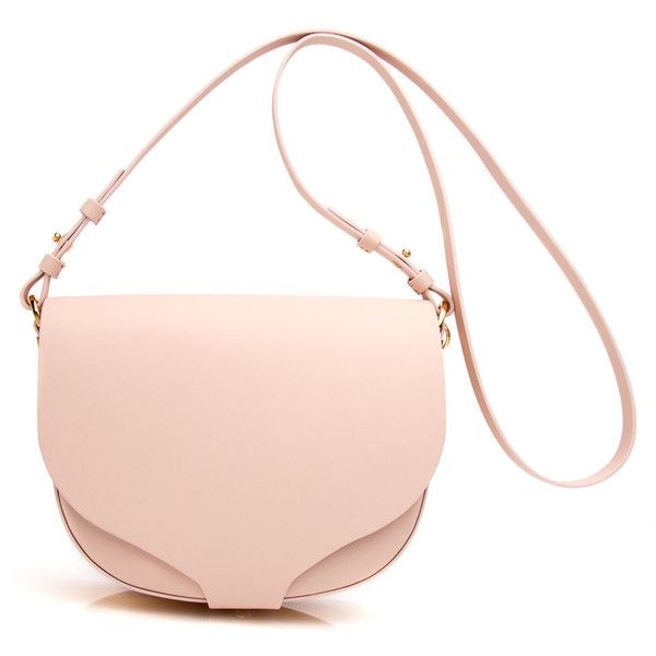Blossom Pink Barnsbury Crossbody found on Polyvore featuring bags, handbags, shoulder bags, bolsas, accessories, purses, crossbody handbags, pink flower purse, flower cross body purse and white crossbody purse