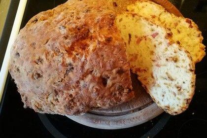 Zwiebel - Käse - Schinken Brot 1