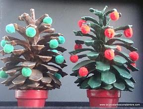 """LACA """"Lo Atamos Con Alambre""""  Piñas decoradas para navidad"""