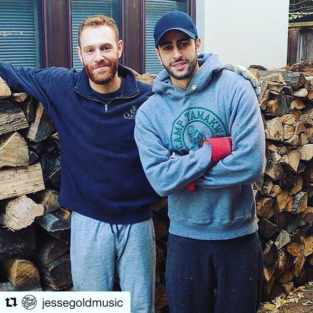 Always representing #Tamakwa @jessegoldmusic !! Love it!!! So much support from our awesome #TamakwaAlumni #TamakwaTshirt #tamakwaspirit #Repost @jessegoldmusic ・・・ My brother @danielhgold and I piled all this wood. It was hell.