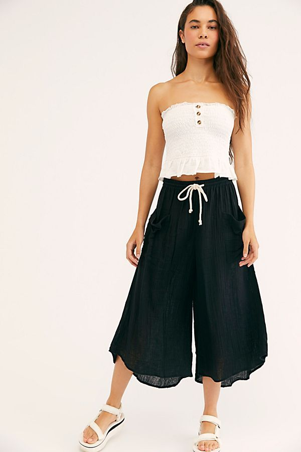 ZWINS Womens Casual High Waisted Self Tie Ruffle Short Pants