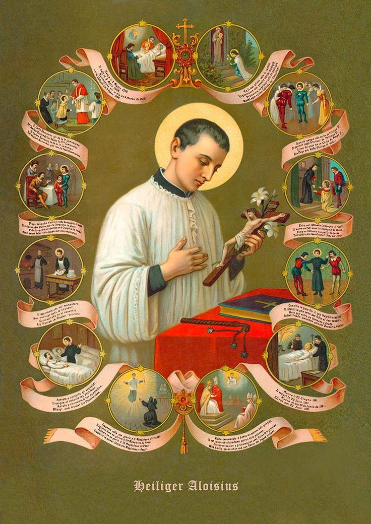 Saints And Angels Oracle Cards: San Luigi Gonzaga# The Life And Miracles Of St. Aloysius