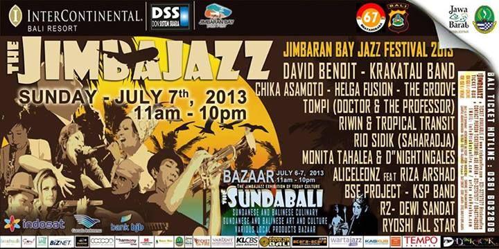 Today in Bali! Jimbaran Bay Jazz Festival 2013 from  11am - 10 pm.  Intercontinental Bali Resort, Jl. Uluwatu No. 45, Jimbaran    www.travelling-bali.com