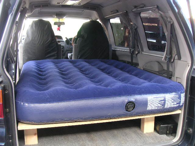 Mitsubishi Delica Owners Club UK™ :: View topic - Very quick double bed mod for L400 7 seater