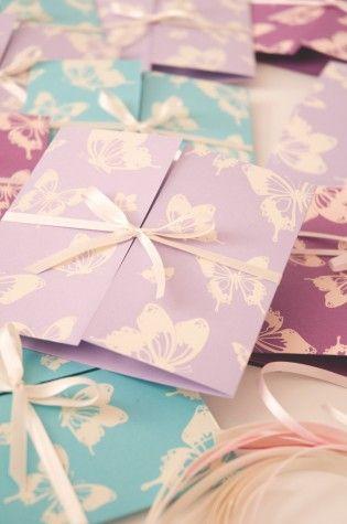 Pretty wedding invitations from Chartula