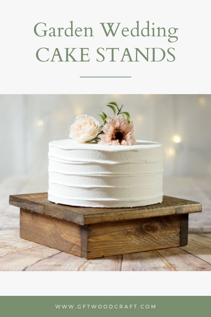 Wood cake stand, rustic wedding decor,
